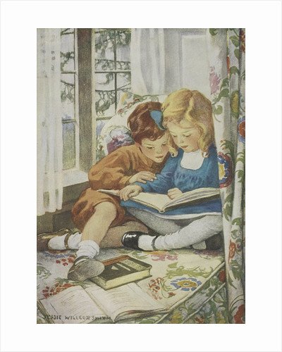 Children reading by Jessie Willcox Smith