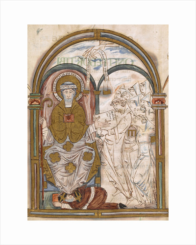 St Benedict and monks, from the Eadui Psalter by Anonymous