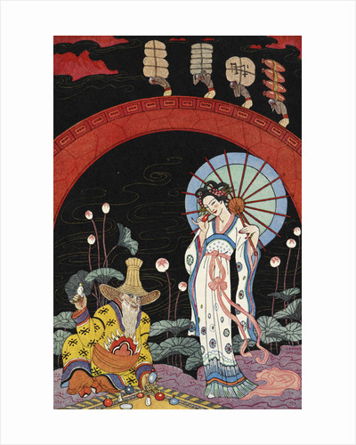 A woman and a maker of perfume. by George Barbier