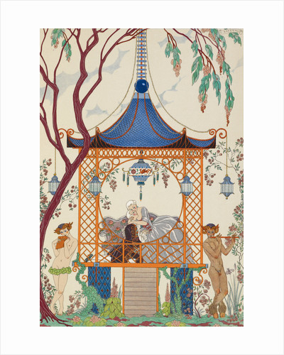 Romance in the gazebo by George Barbier