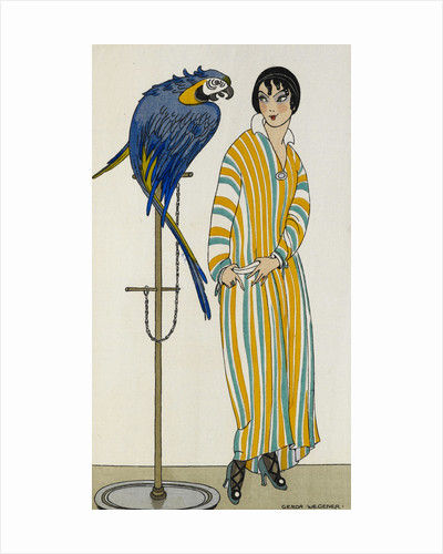 Lady with parrot by Gerda Wegener