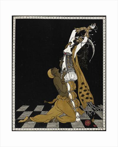 Nijinsky as the Golden Slave in Scheherazade by George Barbier