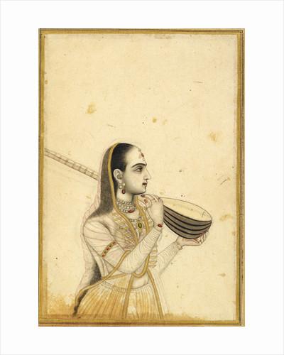 Lady with a tambura by Kalyan Das (Chitarman)