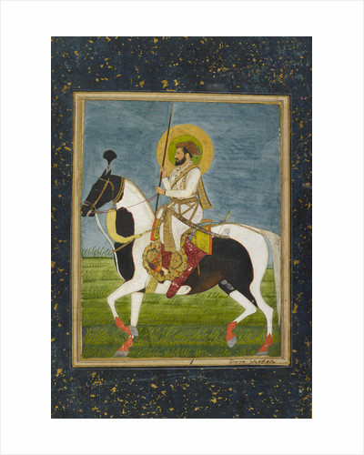 Shah Jahan riding a piebald stallion by Anonymous