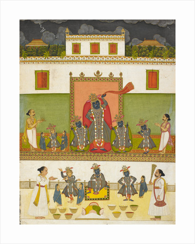 Krishna worshipped under the form of Srinathji by Anonymous