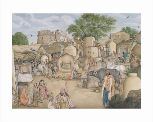 The village of Raniya in Haryana Delhi, 1815-19 by Anonymous