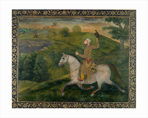 Allahvardi Khan out hawking, c.1660 by Anonymous