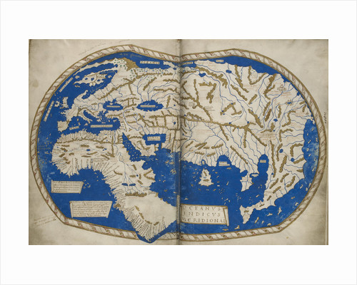 World map by Martellus by Henricus Martellus