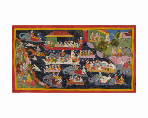 Bharata crosses the Ganges in search of Rama by Anonymous