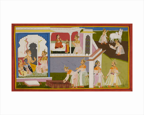 The birth of Sita and bringing of the bow by Manohar