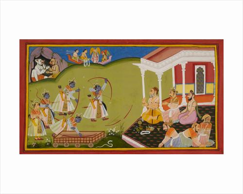 Rama breaks Siva's bow by Manohar