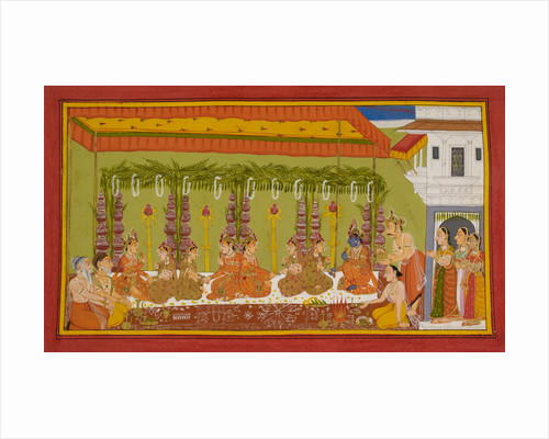 Rama and Sita's marriage by Anonymous