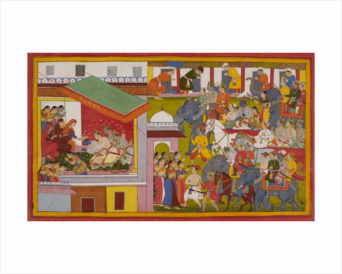 Rama and Sita return to Ayodhya by Anonymous