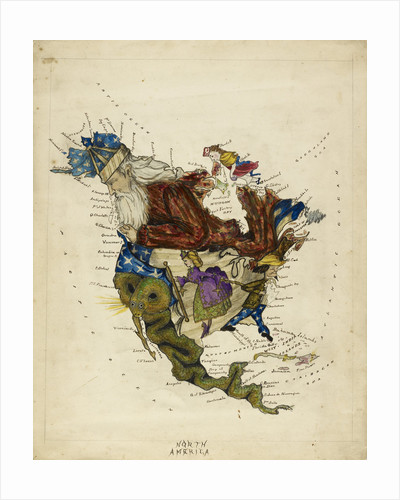 Cartoon map of South America by Lillian Lancaster