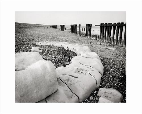 Groynes and older stone groynes by Fay Godwin
