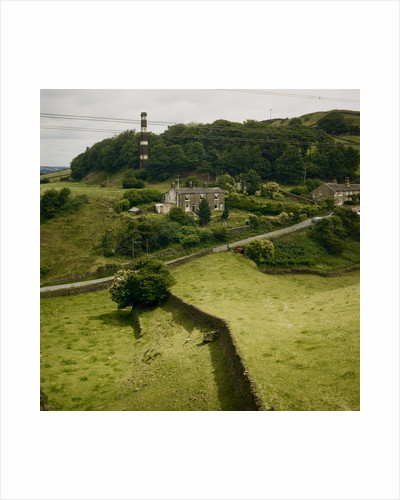 Houses in countryside of Bradford by Fay Godwin