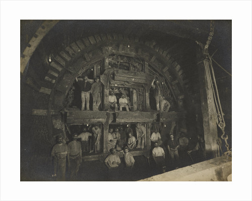 Construction of the London Underground, 1898 by unknown