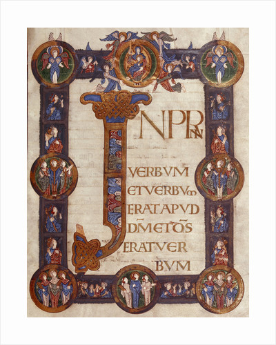 Incipit page of St John's Gospel (Grimbald Gospels) by Anonymous