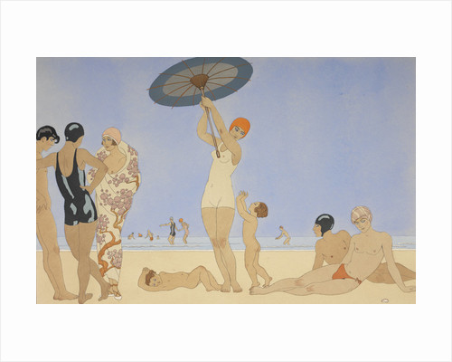 Au lido by George Barbier