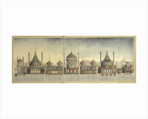 A cross section of the Royal Pavilion at Brighton by John Nash