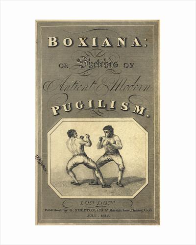 Boxiana by Pierce Egan