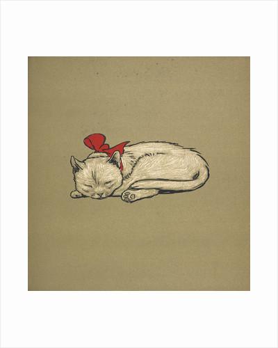 Kitten taking a nap by Cecil Aldin