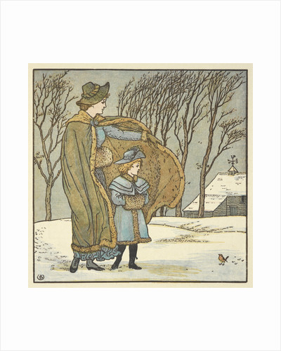 The North Wind and the Robin by Walter Crane