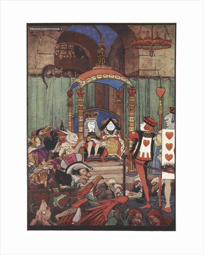 The King and Queen of Hearts upon their throne at court by Gwynedd M Hudson