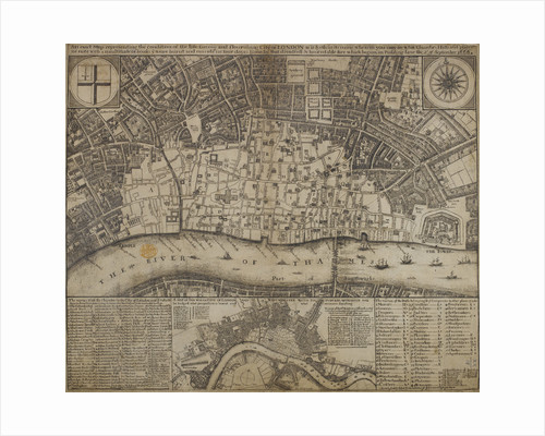 A map of damage resulting from the Great Fire of London by Anonymous
