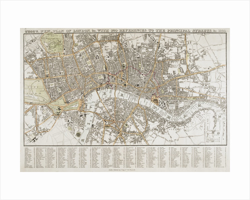 Plan of London (1830) by Thomas Tegg