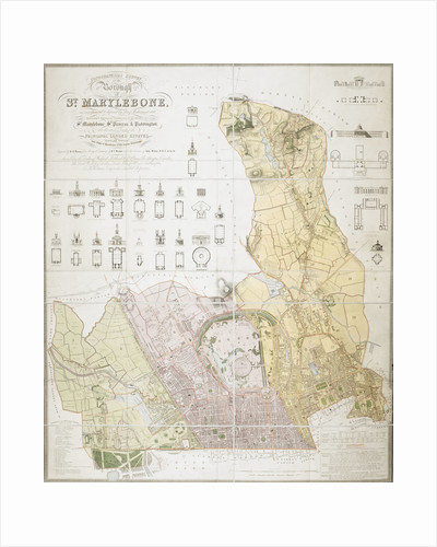 Map of the Borough of St. Marylebone by F A Bartlett