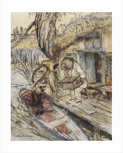 Rat and Mole by the river by Arthur Rackham