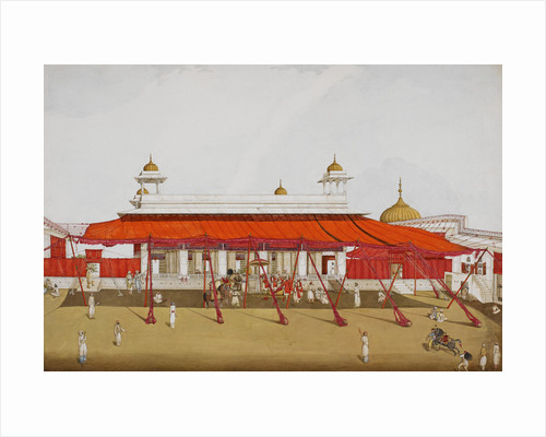 Divan-i Khas in the Delhi palace by Ghulam Ali Khan