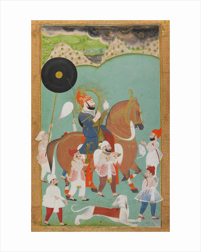 Maharana Bhim Singh of Mewar out hunting by Anonymous