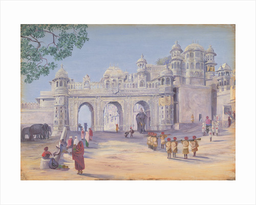 Gate of the Palace at Oodipore.  Janr. 1879 by Marianne North