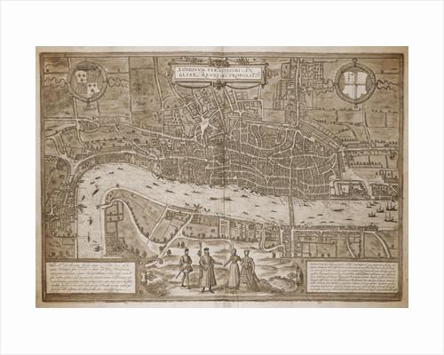 Map of London by Georg Braun