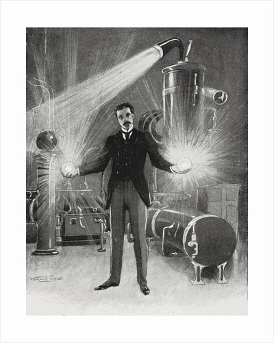 Nikola Tesla - The New Wizard of the West by Warwick Goble