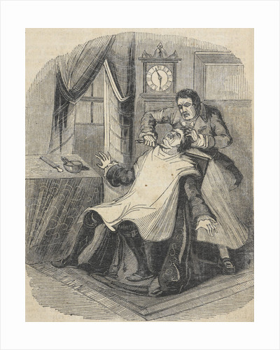 Sweeney Todd murdering the usurer by Anonymous