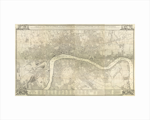 Rocque map of London 1745 by John Rocque