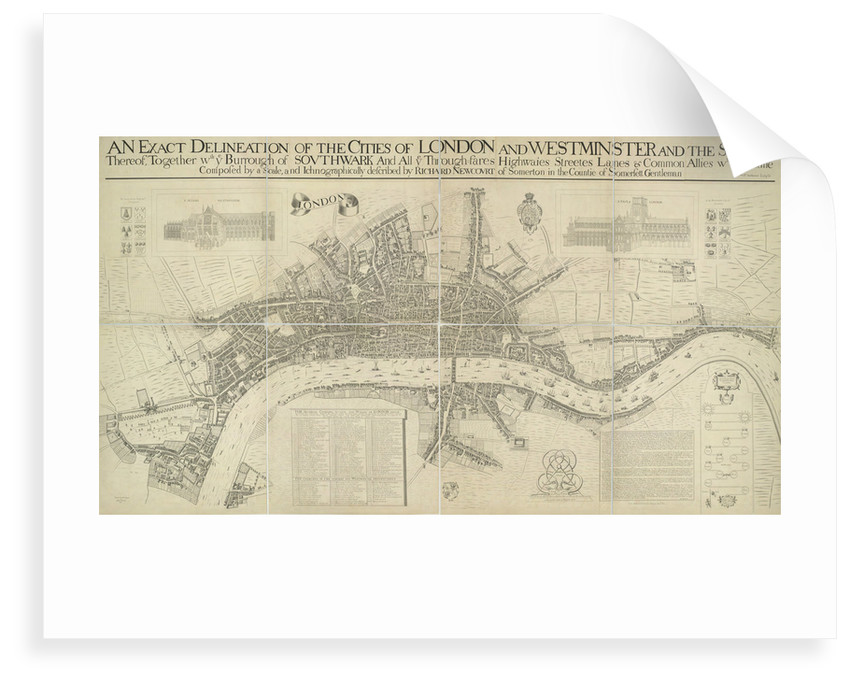 A map of the Cities of London and Westminster by Richard Newcourt
