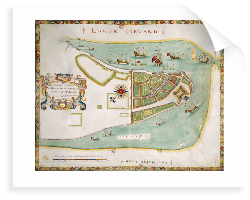 Map of New York or New Amsterdam by Anonymous