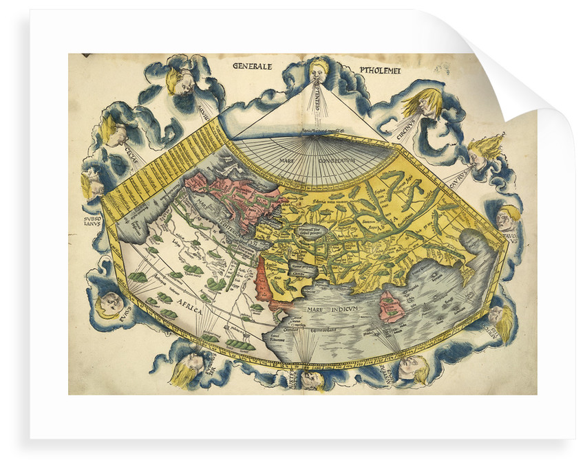 Ptolemic world map posters prints by claudius ptolemy ptolemic world map by claudius ptolemy gumiabroncs Gallery