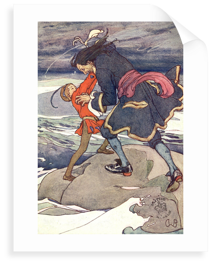 Peter Pan fighting Captain Hook by Alice B Woodward