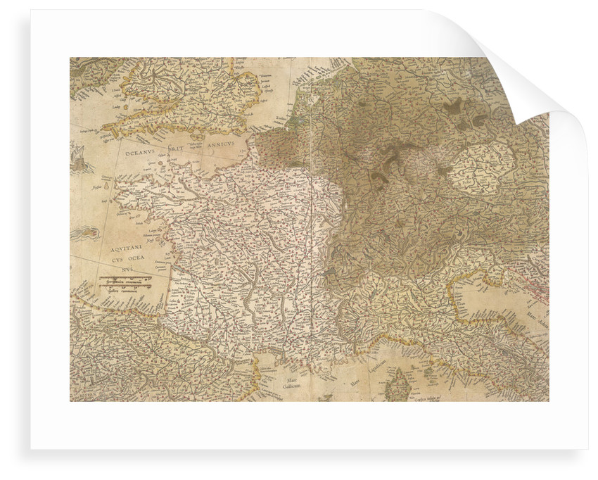 Map of Europe by Gerardus Mercator