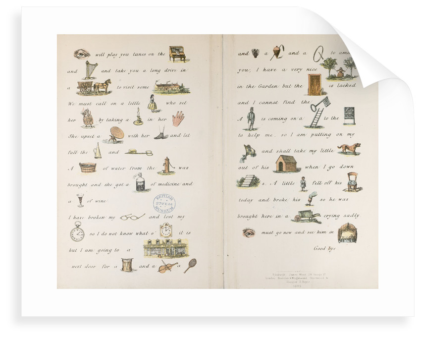 An illustrated letter by Catherine Sinclair
