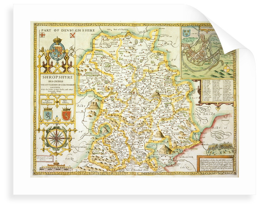 Map of Shropshire by John Speed