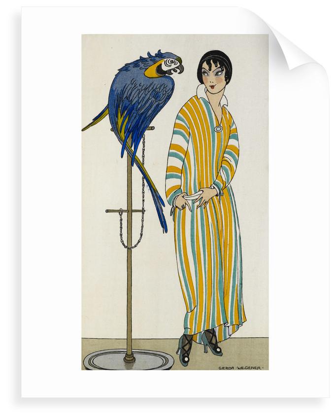 Lady with parrot by Gerda Wegener