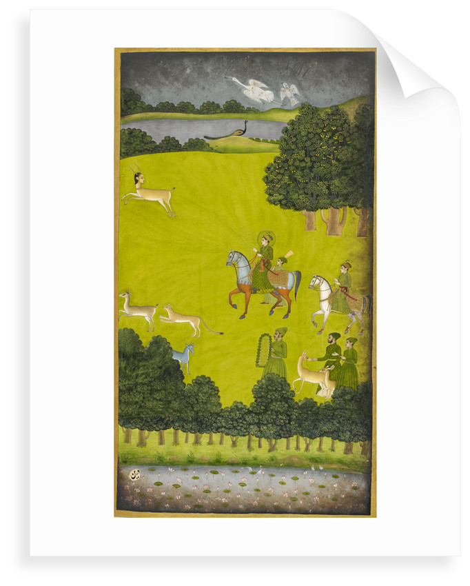 Prince Gauhar on a hunting expedition by Anonymous
