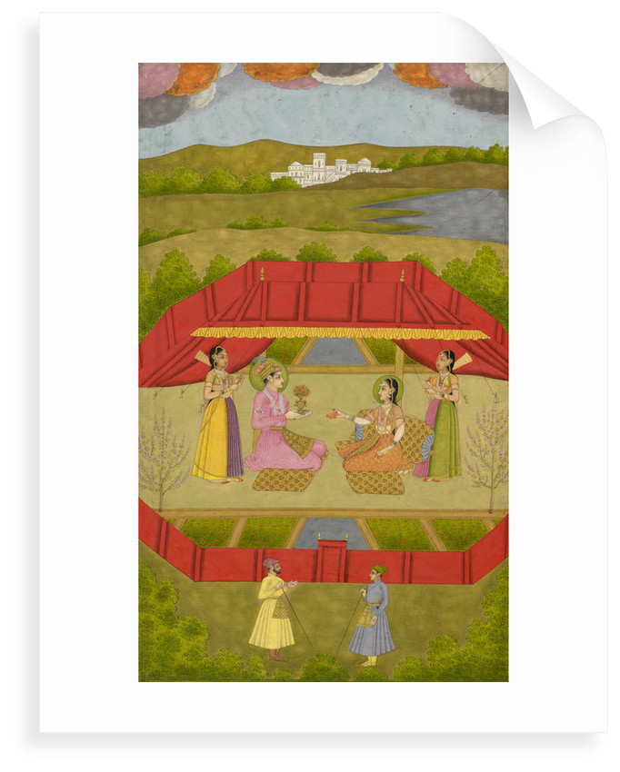 Prince Gauhar and Princess Malika-i Zamani by Govardhan II