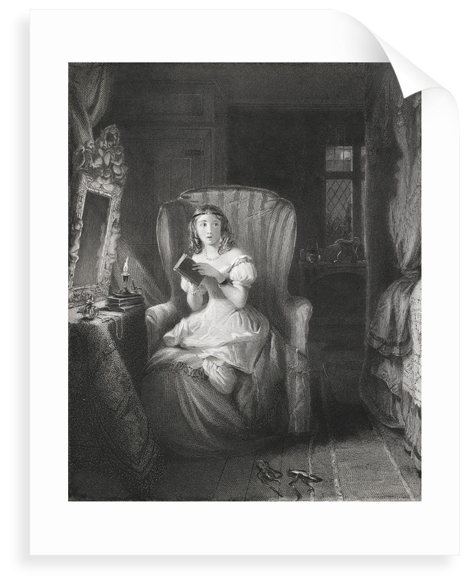 Girl reading ghost stories by R. Graves